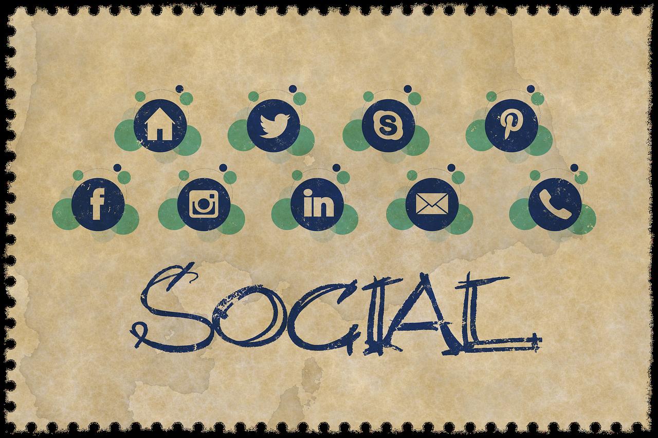 web page, parts, social media